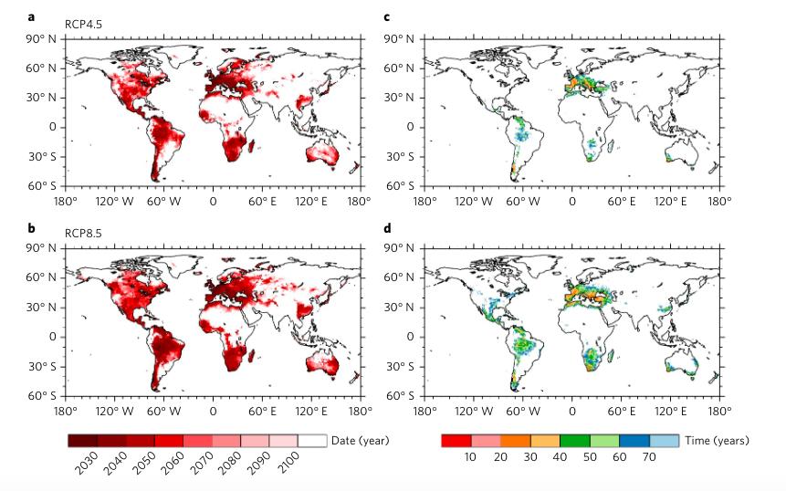 carte désertification rechauffement climatique