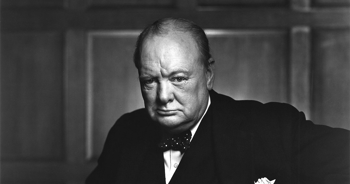 Une photo de Winston Churchill