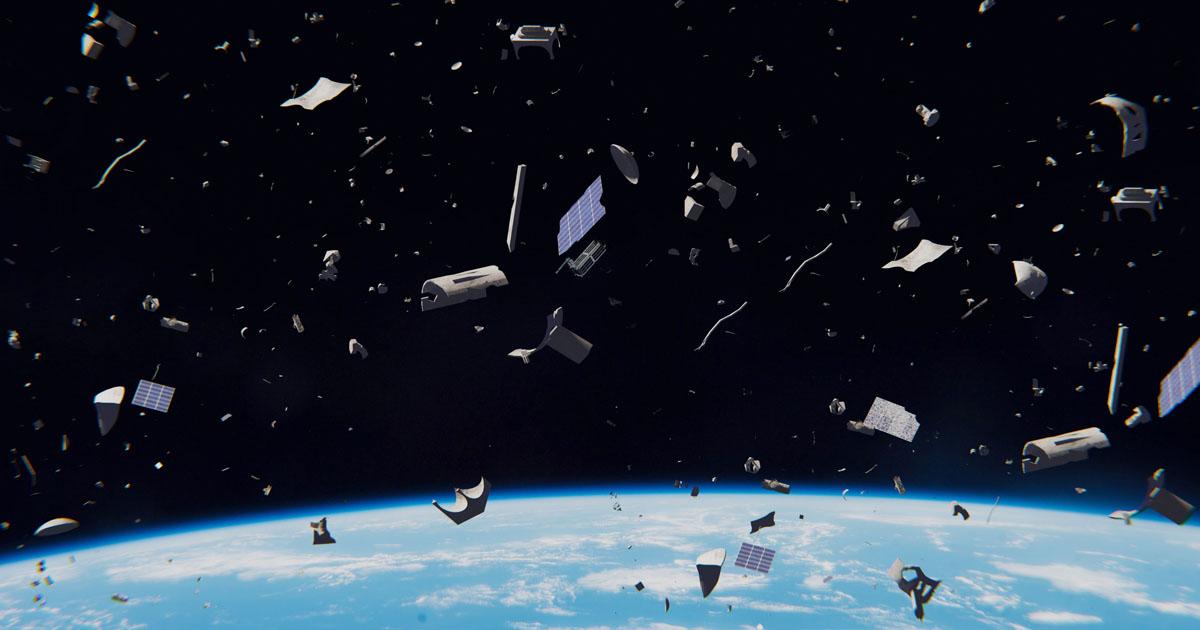 dechets espace pollution danger