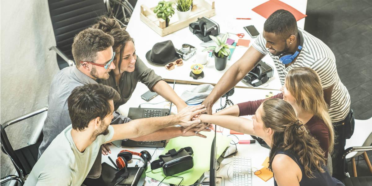Equipe entrepreneurs groupe social